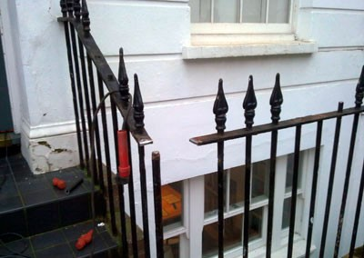 Welding Restoration / Repair to a Metal Railing