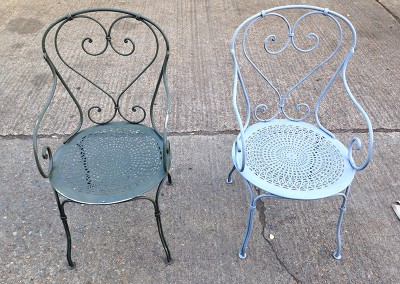 Welding Restoration to Metal Chairs