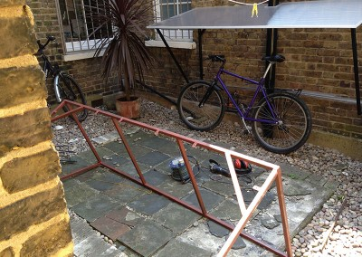 Fabricating A Metal Bike Shelter