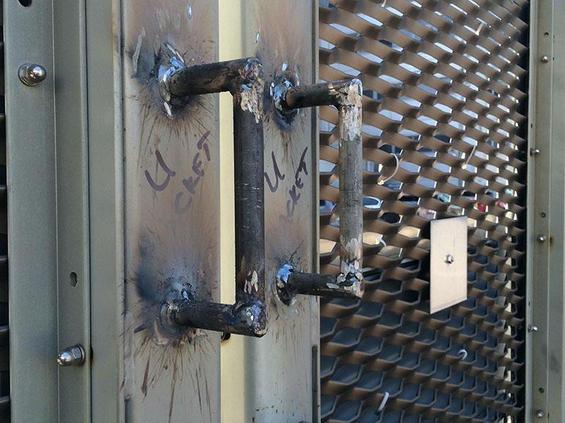 Welding Handles to a Metal Gate - Weldfix