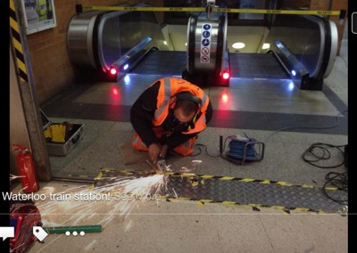 Welding the Metal Floor at Waterloo Station