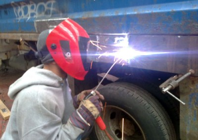Welding Metal Truck Bed
